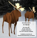 3D Moose Near Life Size Yard Art Woodworking Pattern