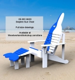 05-WC-0420 - Maritime Dolphin Sun Chair Woodworking Pattern