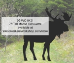 05-WC-0421 - 7ft Tall Moose Silhouette Yard Art Woodworking Pattern
