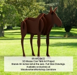 3D Moose Cow Yard Art Woodworking Pattern