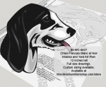 Francais Blanch et Noir Hound Dog Woodworking Pattern woodworking plan
