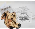 Cretan Hound Dog Scrollsaw Intarsia and Yard Art Woodworking Pattern