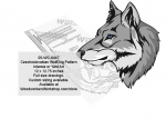 Czechoslovakian Wolfdog Intarsia or Yard Art Woodworking Pattern woodworking plan
