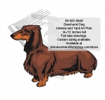 05-WC-0448 - Daschund Dog Intarsia or Yard Art Woodworking Pattern