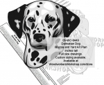 05-WC-0449 - Dalmatian Dog Intarsia or Yard Art Woodworking Pattern