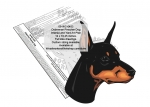 Doberman Pinscher Dog Intarsia or Yard Art Woodworking Pattern