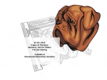 Dogue de Bordeaux Intarsia or Yard Art Woodworking Pattern woodworking plan
