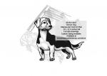 Drever Dog Intarsia or Yard Art Woodworking Pattern
