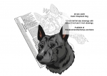05-WC-0459 - Dutch Shepherd Dog Scrollsaw Intarsia or Yard Art Woodworking Pattern