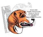 English Foxhound Dog Scrollsaw Intarsia or Yard Art Woodworking Plan