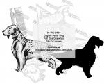 English Setter Dog Yard Art Woodworking Pattern.