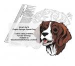 English Springer Spaniel Dog Intarsia or Yard Art Woodworking Pattern
