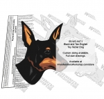 English Toy Terrier Black and Tan Dog Intarsia or Yard Art WoodPattern woodworking plan