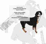 Entlebucher Mountain Dog Intarsia or Yard Art WoodPattern woodworking plan