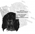 Epagneul Bleu de Picardie Dog Intarsia or Yard Art WoodPattern woodworking plan