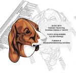 Estonian Hound Dog Intarsia or Yard Art WoodPattern