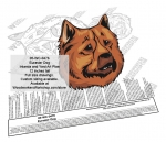 Eurasier Dog Intarsia or Yard Art WoodPattern woodworking plan