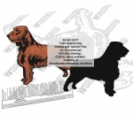 Field Spaniel Scrollsaw Intarsia or Jigsaw Yard Art Woodcraft Pattern woodworking plan