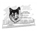 Finnish Lapphund Dog Scrollsaw Intarsia or Yard Art Woodcraft Pattern woodworking plan