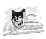 Finnish Lapphund Dog Scrollsaw Intarsia or Yard Art Woodcraft Pattern