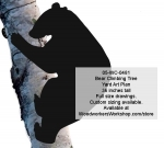 Bear Climbing Tree 3ft Silhouette Yard Art Woodworking Pattern. woodworking plan