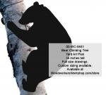 Bear Climbing Tree 3ft Silhouette Yard Art Woodworking Pattern