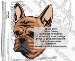 05-WC-0488 - French Bulldog Intarsia or Yard Art Woodworking Plan