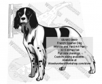 05-WC-0489 - French Spaniel Dog Intarsia or Yard Art Woodworking Plan