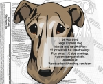 05-WC-0490 - Galgo Espanol Dog Intarsia or Yard Art Woodworking Plan