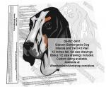 Gascon Saintongeois Dog Intarsia or Yard Art Woodworking Plan