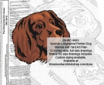 05-WC-0493 - German Longhaired Pointer Dog Intarsia or Yard Art Woodworking Plan