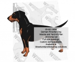 05-WC-0494 - German Pinscher Dog Intarsia or Yard Art Woodworking Plan