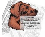 German Rough Haired Pointer Dog Intarsia or Yard Art Wood Drawing