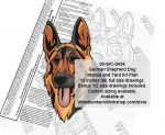 05-WC-0496 - German Shepherd Dog Intarsia or Yard Art Wood Drawing