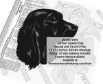German Spaniel Dog Intarsia or Yard Art Wood Drawing