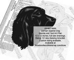 German Spaniel Dog Intarsia or Yard Art Wood Drawing
