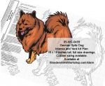05-WC-0499 - German Spitz Dog Intarsia or Yard Art Wood Drawing