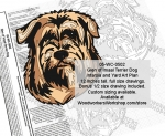 Glen of Imaal Terrier Dog Intarsia and Yard Art Scrollsaw Pattern