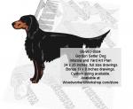 Gordon Setter Dog Intarsia and Yard Art Scrollsaw Pattern