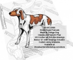 fee plans woodworking resource from WoodworkersWorkshop� Online Store - Grand Anglo Francais Blanc et Orange Dog,dog breeds,yard art,painting wood crafts,scrollsawing patterns,drawings,plywood,plywoodworking plans,woodworkers projects,workshop blueprints