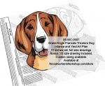 fee plans woodworking resource from WoodworkersWorkshop� Online Store - Grand Anglo Francais Tricolore Dogs,dog breeds,yard art,painting wood crafts,scrollsawing patterns,drawings,plywood,plywoodworking plans,woodworkers projects,workshop blueprints