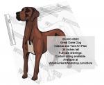 Great Dane Dog Intarsia and Yard Art Drawing.