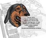 Greek Harehound Dog Intarsia and Yard Art Drawing