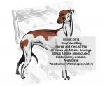 Greyhound Dog Intarsia and Yard Art Drawing