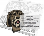 Griffon Nivernais Dog Intarsia or Yard Art Woodworking Pattern woodworking plan