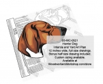 Harrier Dog Intarsia or Yard Art Woodworking Pattern woodworking plan