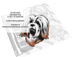 Havanese Dog Intarsia or Yard Art Woodworking Pattern woodworking plan