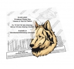 Himalayan Dog Intarsia or Yard Art Woodworking Pattern woodworking plan