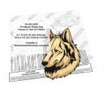 Himalayan Dog Intarsia or Yard Art Woodworking Pattern.
