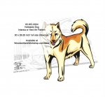 Hokkaido Dog Intarsia or Yard Art Woodworking Pattern